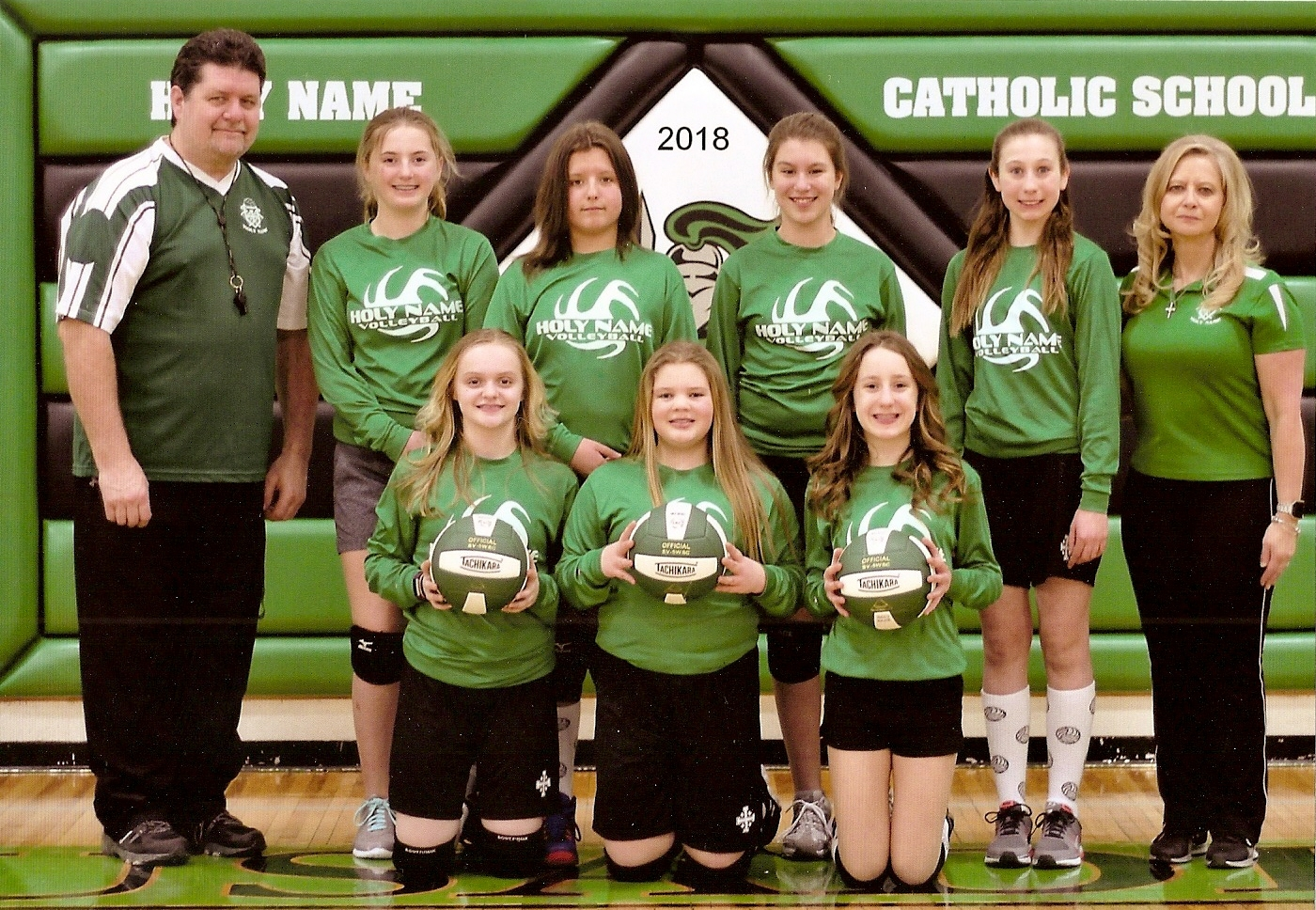 2018 6th Grade Volleyball