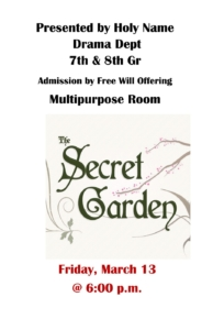 7th & 8th Grade Play - The Secret Garden